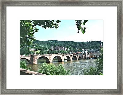 Heidelberg Schloss Overlooking The Neckar Framed Print by Gordon Elwell