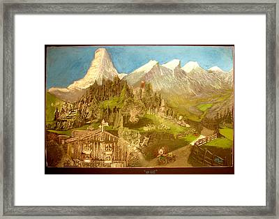 Framed Print featuring the drawing Heidi 1937 by Joseph Hawkins