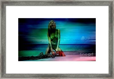 Heidi Klum Framed Print