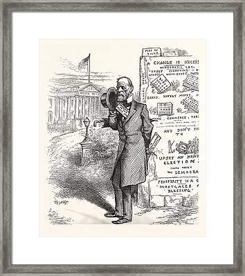 Height Of English Ambition, Engraving 1880, Us, Usa, America Framed Print