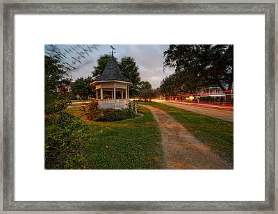 Heights Boulevard Gazebo Framed Print