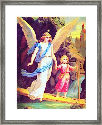 Heiliger Schutzengel  Guardian Angel 3 Enhanced Framed Print by MotionAge Designs