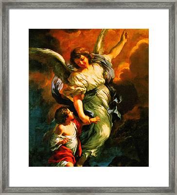 Heiliger Schutzengel  Guardian Angel 4  Enhanced Framed Print by MotionAge Designs