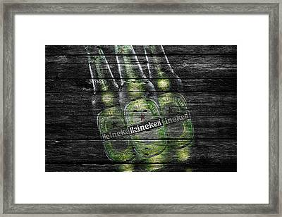 Heineken Bottles Framed Print by Joe Hamilton