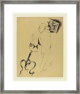 Heinrich Hoerle, Hällucinationen Hallucinations Framed Print by Litz Collection
