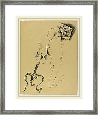 Heinrich Hoerle, Hällucinationen Hallucinations Framed Print