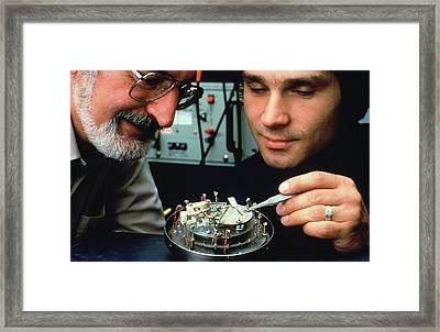 Heinrich Rohrer And Gerd Binnig Framed Print by Ibm Research