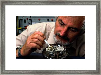 Heinrich Rohrer Framed Print by Ibm Research