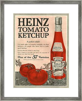 Heinz 1910s Usa Framed Print by The Advertising Archives