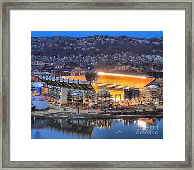 Heinz Field At Night Framed Print