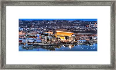 Heinz Field Evening Panorama Framed Print