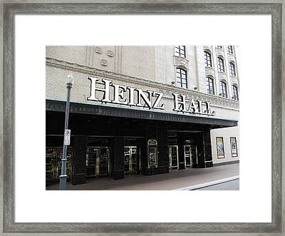 Heinz Hall Framed Print by Joyce  Wasser