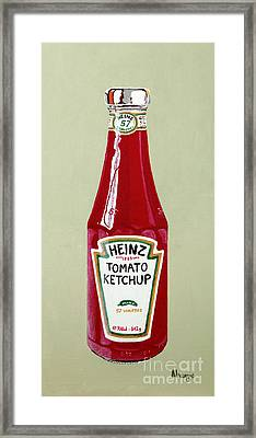 Heinz Ketchup Framed Print by Alacoque Doyle