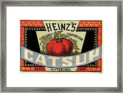 Heinz Ketchup Framed Print by Us National Archives
