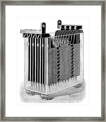 Heinz Lead-acid Battery Framed Print by Science Photo Library