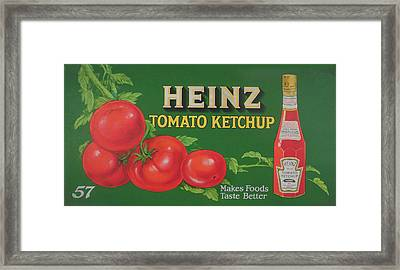 Heinz Tomato Ketchup Framed Print by Woodson Savage