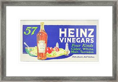 Heinz Vinegars Framed Print