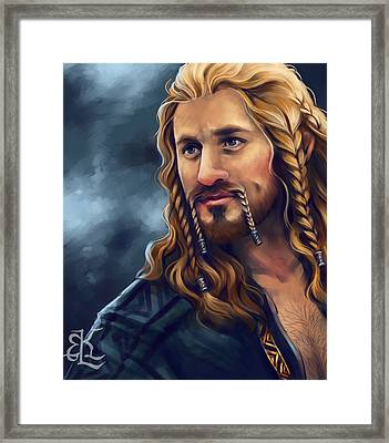 Heir Of Durin Framed Print by Lydia Kinsey