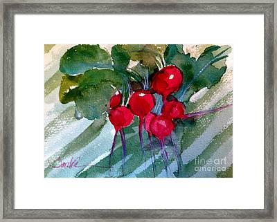 Heirloom Radishes Framed Print by Sandra Stone