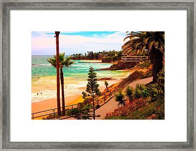 Heisler Park Laguna Beach Framed Print by California Photo