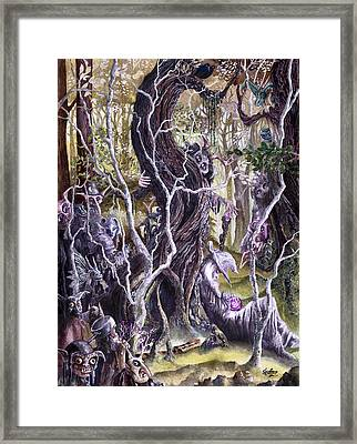Framed Print featuring the painting Heist Of The Wizard's Staff 2 by Curtiss Shaffer