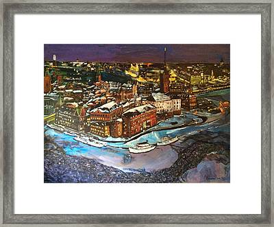 Hej Stockholm Framed Print by Belinda Low