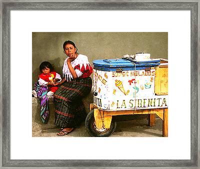 Helados La Sirenita Framed Print
