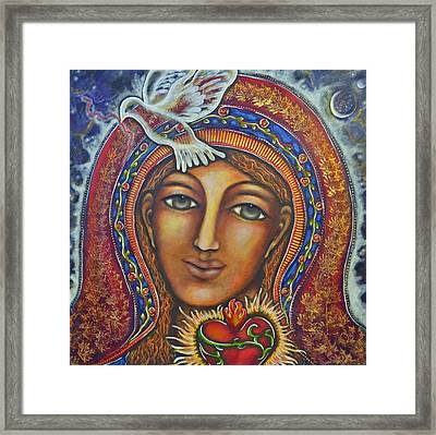 Held In Her Heart Framed Print by Marie Howell Gallery