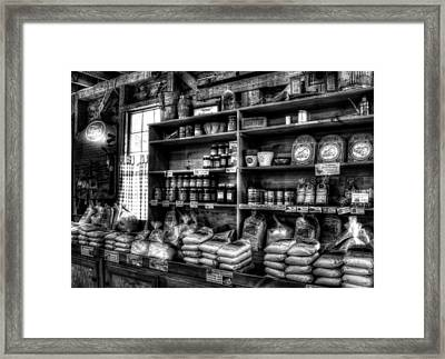 Helen Georgia Grist Mill In Black And White Framed Print by Greg and Chrystal Mimbs