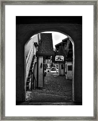 Helen Georgia Side Street In Black And White Framed Print