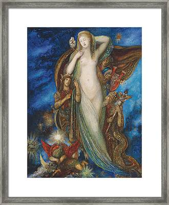 Helen Glorified Framed Print by Gustave Moreau