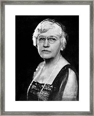 Helen Hamilton Gardener, Suffragist Framed Print by Wellcome Images