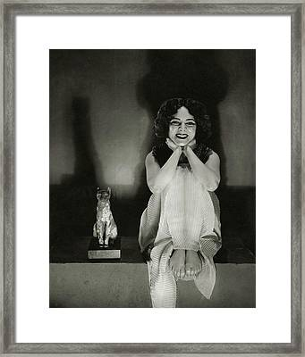 Helen Hayes As Cleopatra Framed Print by Edward Steichen