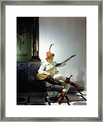 Helen Hayes Dressed In Costume For Twelfth Night Framed Print