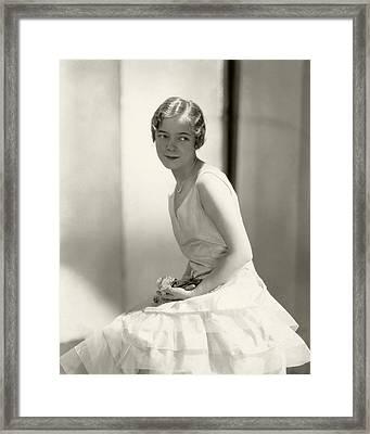 Helen Hayes Wearing A Dress Framed Print