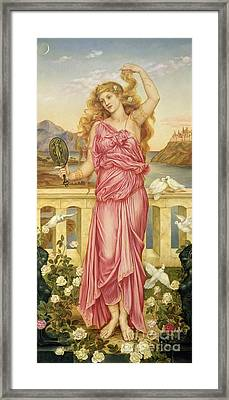 Helen Of Troy Framed Print by Evelyn De Morgan