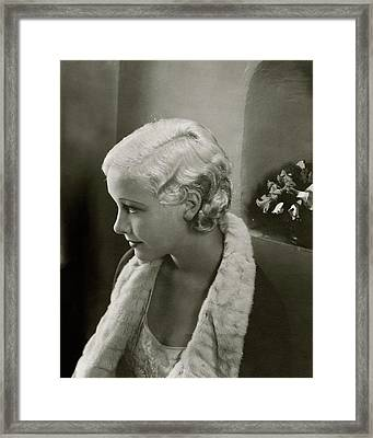 Helen Twelvetrees In Bedtime Story Framed Print by Edward Steichen