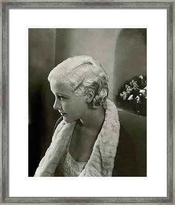 Helen Twelvetrees In Bedtime Story Framed Print