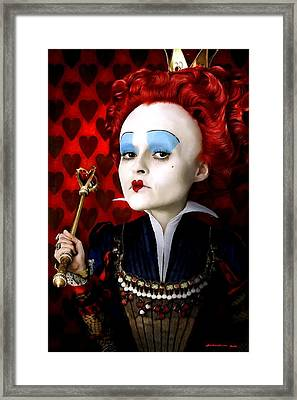 Helena Bonham Carter As The Red Queen In The Film Alice In Wonderland Framed Print