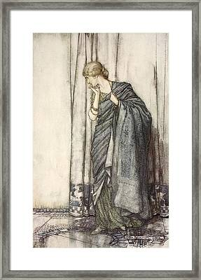 Helena, Illustration From Midsummer Framed Print by Arthur Rackham