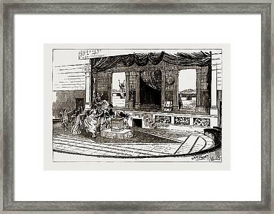 Helena In Troas, At Henglers Circus The Death Of Oenone Framed Print
