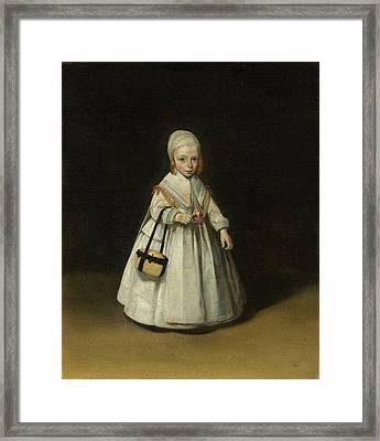 Helena Van Der Schalcke, Gerard Ter Borch II Framed Print
