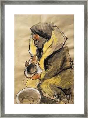 Helene #10 - Figure Series Framed Print by Mona Edulesco