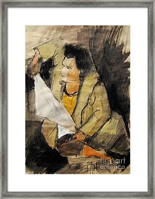 Helene #12 - Figure Series Framed Print by Mona Edulesco