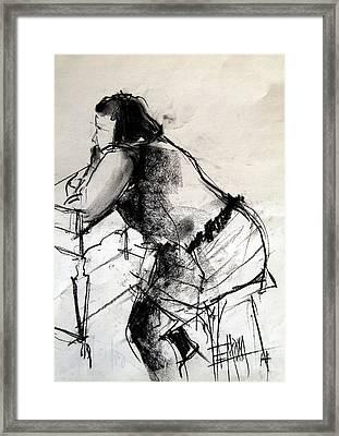 Helene #2 - Figure Series Framed Print by Mona Edulesco