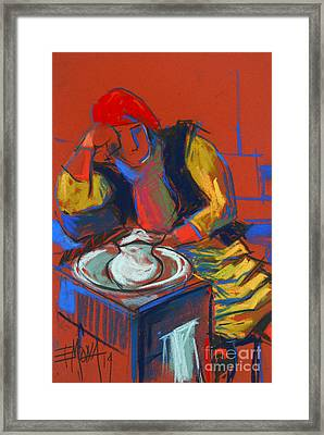 Helene #4 - Figure Series Framed Print by Mona Edulesco