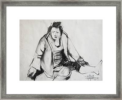 Helene #6 - Figure Series Framed Print by Mona Edulesco
