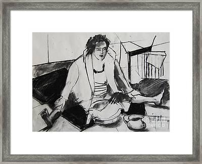 Helene #7 - Figure Series Framed Print by Mona Edulesco