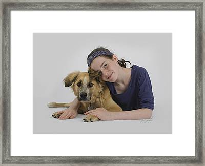 Helene And Merlin 2 Framed Print