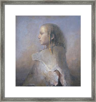 Helene In Profile  Framed Print by Odd Nerdrum
